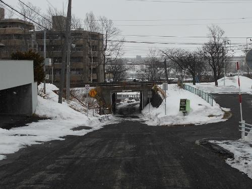 市道下野幌線 JR架道橋 西側