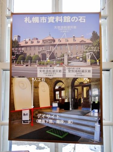 「札幌市資料館の石」説明パネル