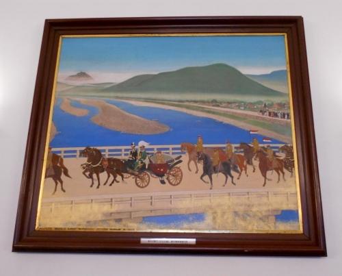 皇太子殿下豊平橋御通過の図