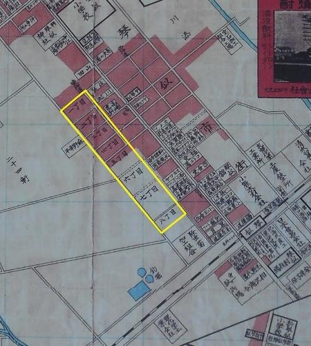 札幌郊外円山町琴似軽川明細図1938年 琴似 丁目