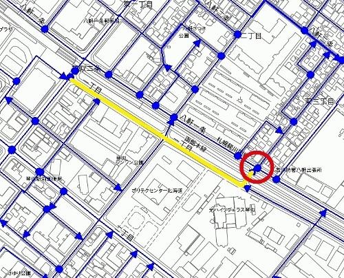 札幌市地図情報サービス 認定道路 市道琴似9丁目線