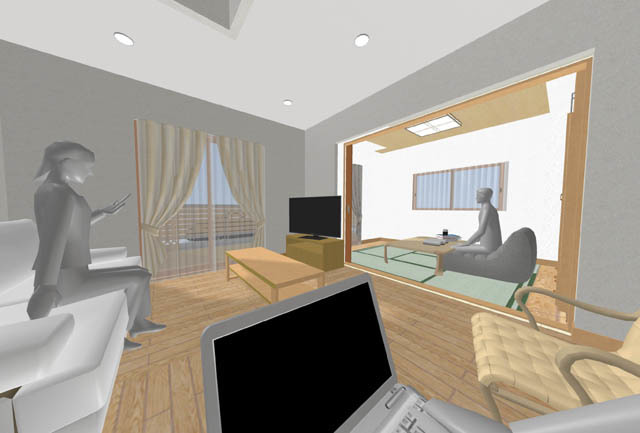 オープン和室