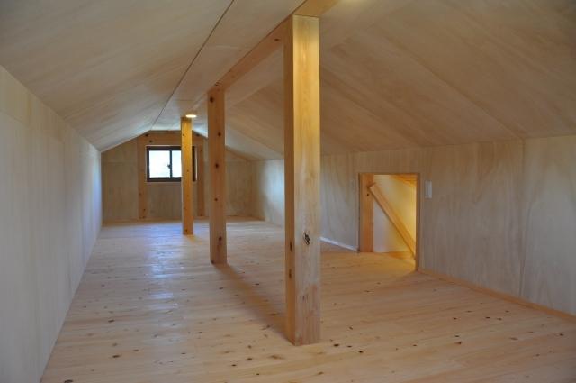柱のある小屋裏収納_2306512_s