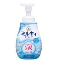 牛乳石鹸の泡で出てくるミルキィボディソープ