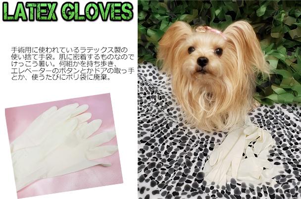 ④ラテックス手袋