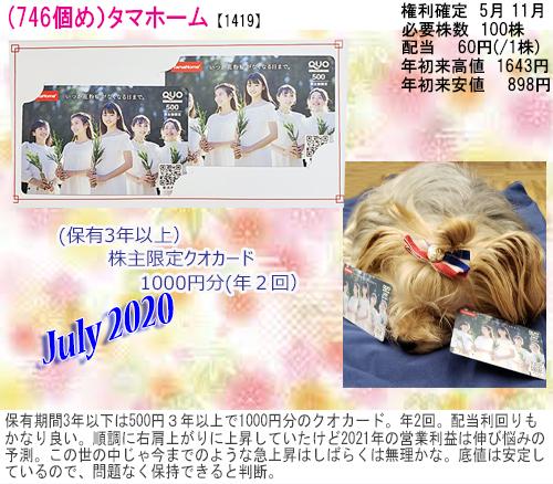 (746)2020年07月到着タマホーム