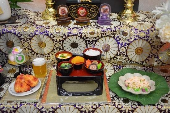 御霊供膳(おりく膳)with食品サンプル