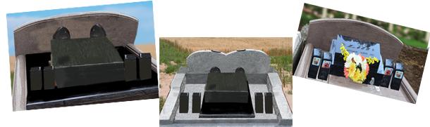 お墓のデザイン③バックに高さのある壁