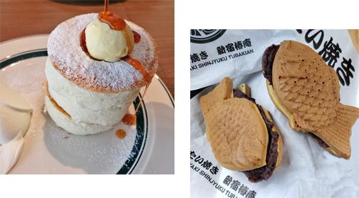 (blos)パンケーキと鯛焼き