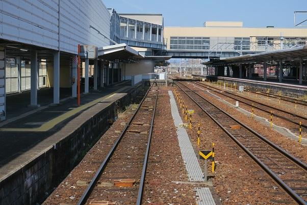 錦川鉄道清流線岩国駅0番ホーム
