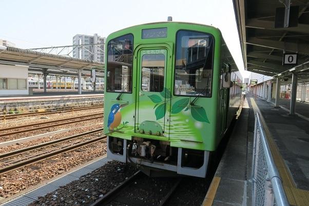 錦川鉄道NT3000形 岩国駅0番ホーム