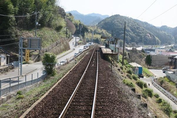 岩徳線前面展望 川西駅