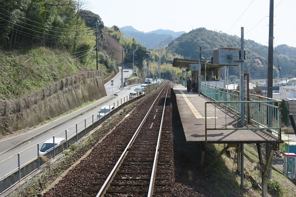 岩徳線前面展望 川西駅 2