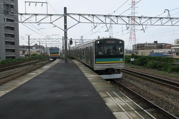 南武線支線205系 尻手駅 1