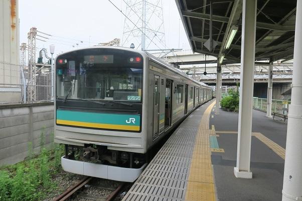 南武線浜川崎支線205系 浜川崎駅