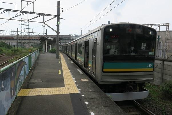 南武線浜川崎支線205系 浜川崎駅 2
