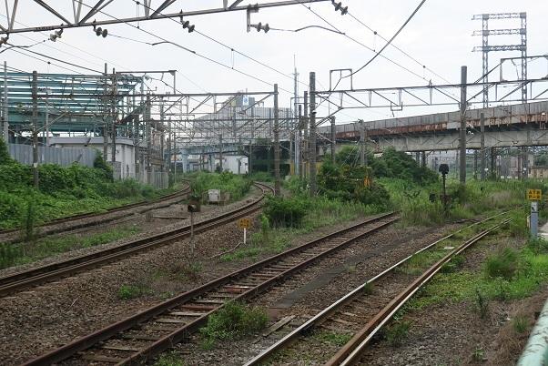 南武線浜川崎駅 東海道貨物線