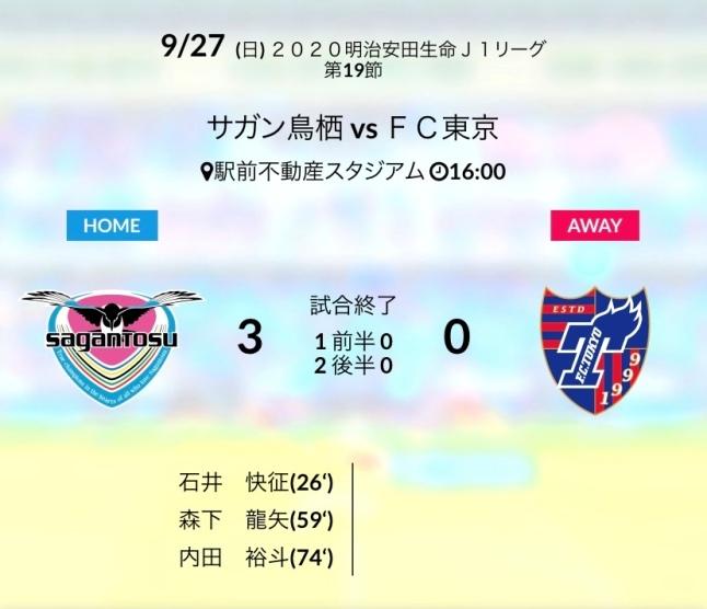 ホーム東京戦結果
