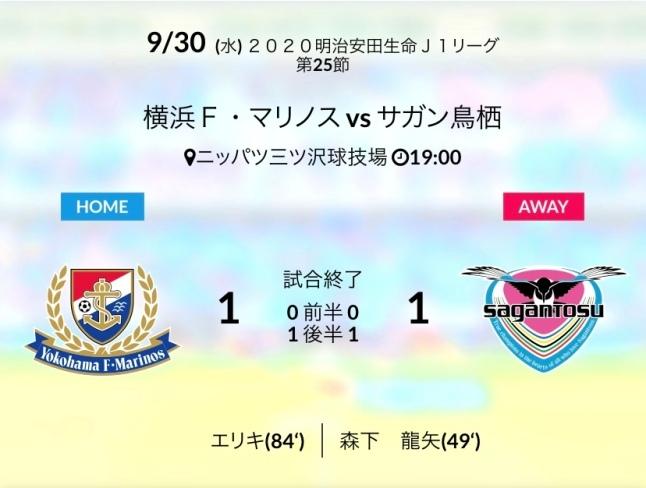 アウェイ横浜FM戦結果