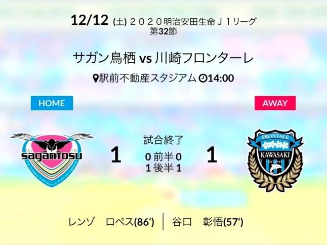 ホーム川崎戦結果