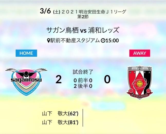 ホーム浦和戦結果