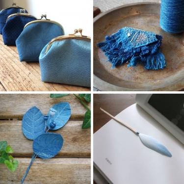 牧禎舎の藍染め展2020