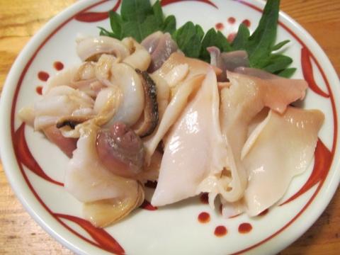 北寄貝の刺身1