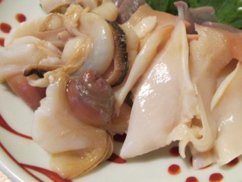 北寄貝の刺身アップ2