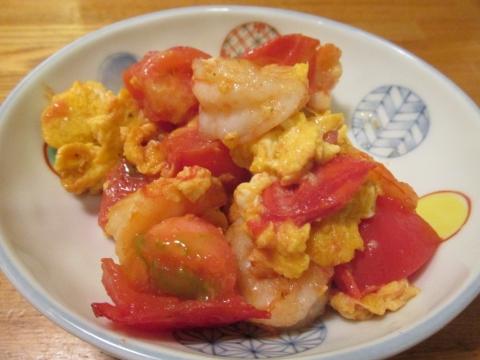 海老とトマトの卵炒め2