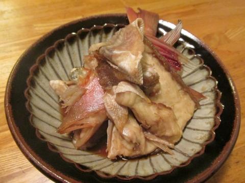 カナガシラのアラ煮2