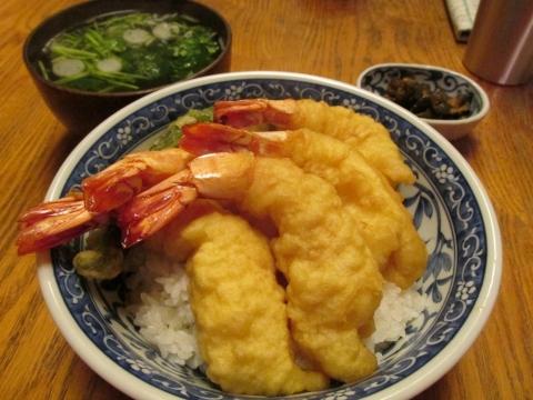 海老天丼セット1