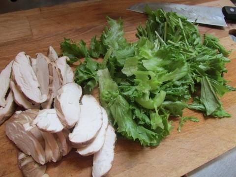 水菜とフリルレタスと椎茸1