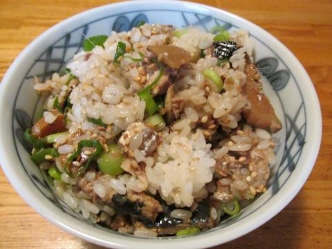 マイワシの生姜煮混ぜご飯3