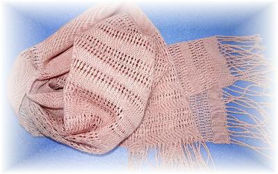 もじり織りマフラー1-2
