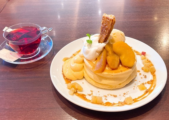 林檎とさつまいものパンケーキ 大江の郷 ココガーデン