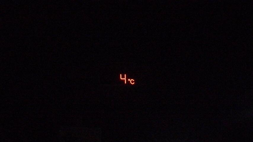 今季初の5℃以下を目撃