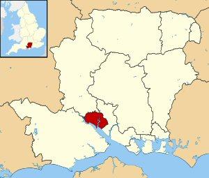 04e 300 Soutrh shown within Hampshireanpton