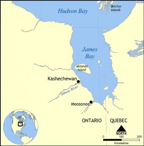 09bb 600 Map of Kashechewan Ontario