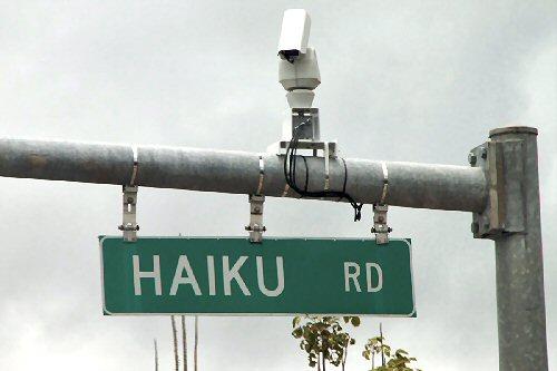 03b 500 haiku road sign