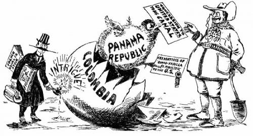 09aa 700 Panama Canel 1903 cartoon