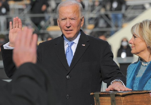 02a 600 President Biden taking oath of office