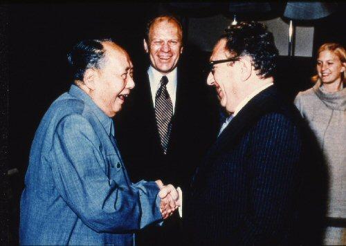 09b 500 毛沢東とKissinger Ford his daughter