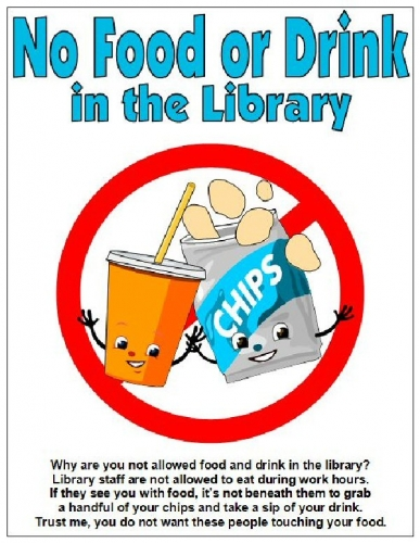 03c 600 No food or drink in the library