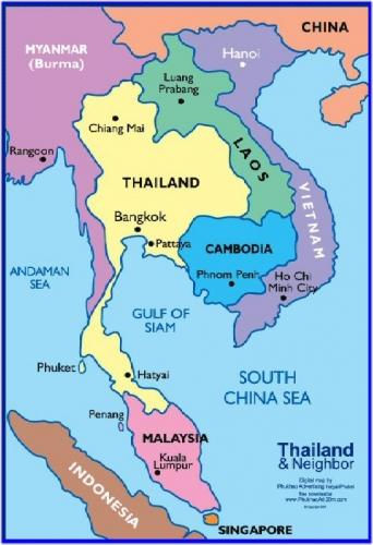 4a 500 Thai map