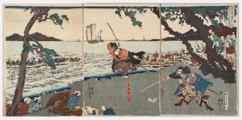 03a 600 巌流島の戦い浮世絵