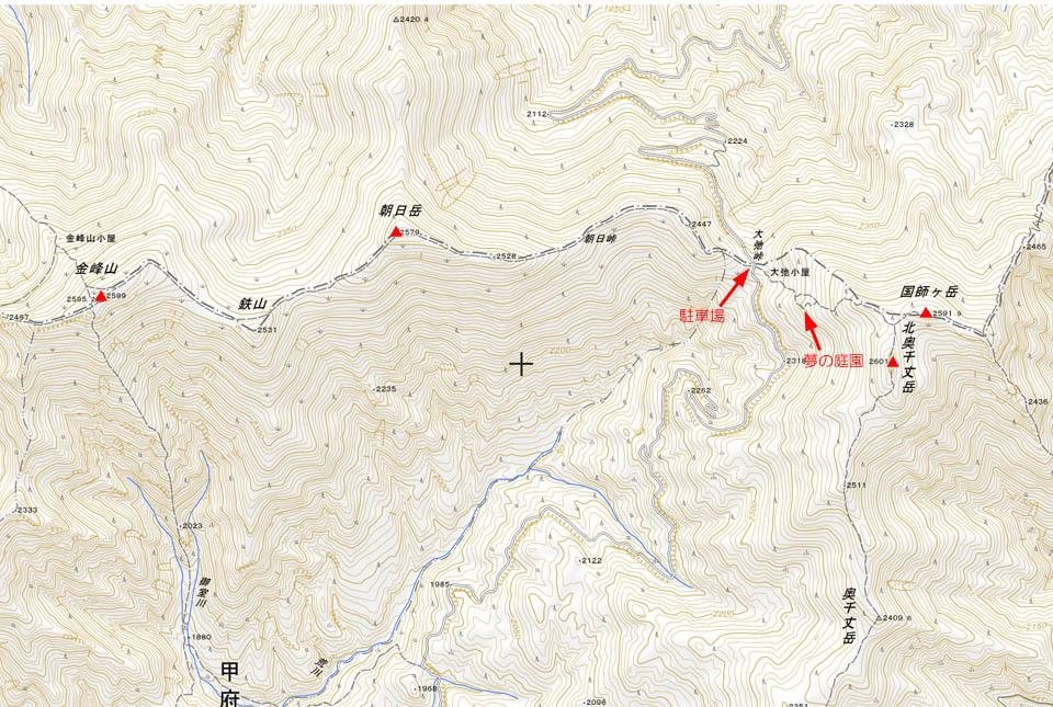 金峰北奥地図