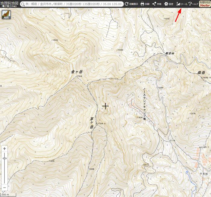 茅ヶ岳2D地図 700×654