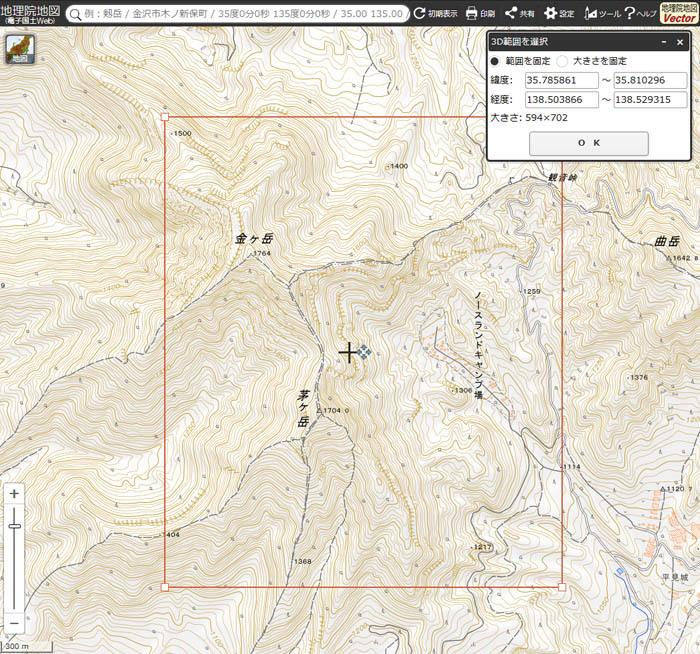 茅ヶ岳地図3D設定2 700×654