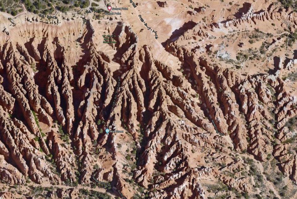 ナバホループトレイル航空地図