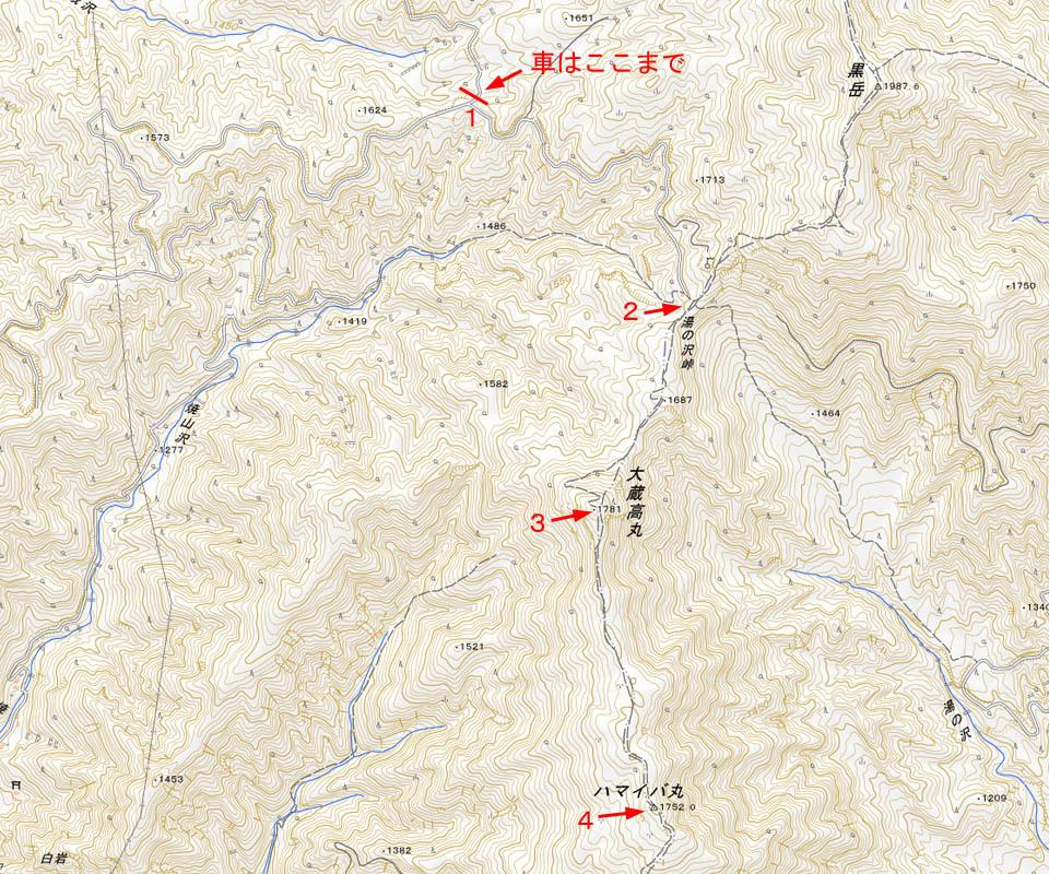 大蔵高丸地図